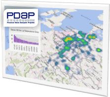 Wärmebildkarte aus PDAP
