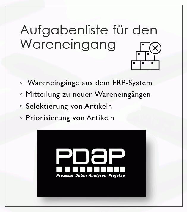 • Verbindung der prüfrelevanten Wareneingänge aus dem ERP-System
